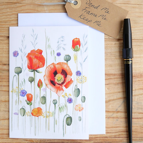 Meadow Poppies. Gift card