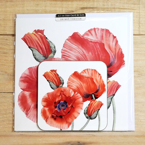 Meadow Flowers. Coaster and  printed card