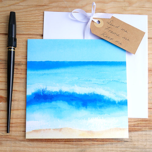 Breaking waves. Gift card