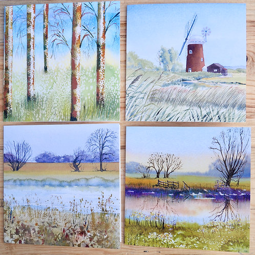 Landscape Collection 8 Cards: Blank inside for any occasion.