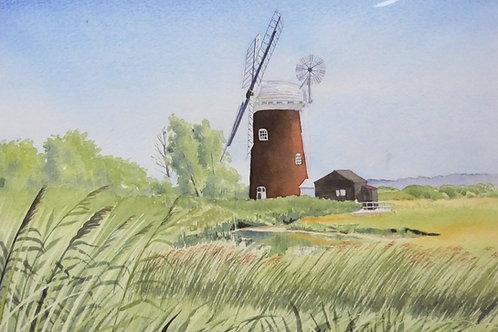 Horsey Windmill. Original Watercolour Painting