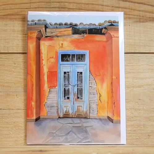 Moroccan doorway. Gift card