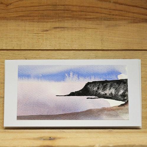 Hand painted original card -Calgary Bay Isle of Mull