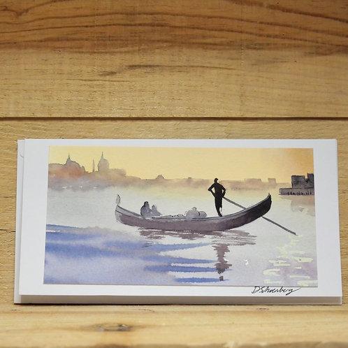 Hand painted original card -Venice