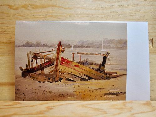 Wreck at Pin Mill. Gift card