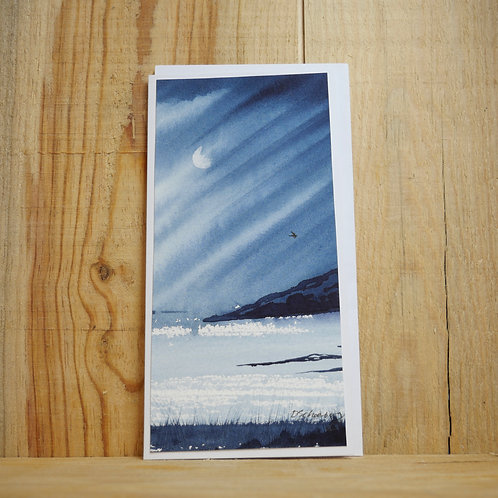 Hand painted original card - Storm approaching