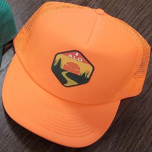 Yellow and Hunter Orange Trucker Hats