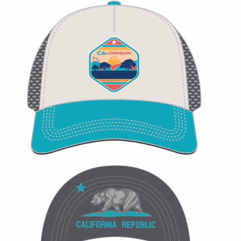 CALQ Aqua Boco Trucker Hat (Preorder - will arrive in March)