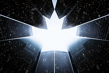 Buildings form Canadian Maple Leaf
