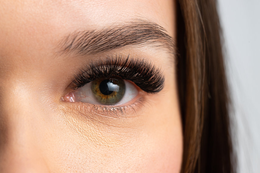 Portrait of a beautiful woman with eyela