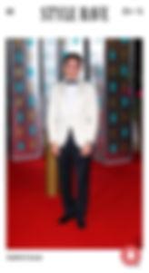Andrei Lucas Bafta awards 2020 white tux