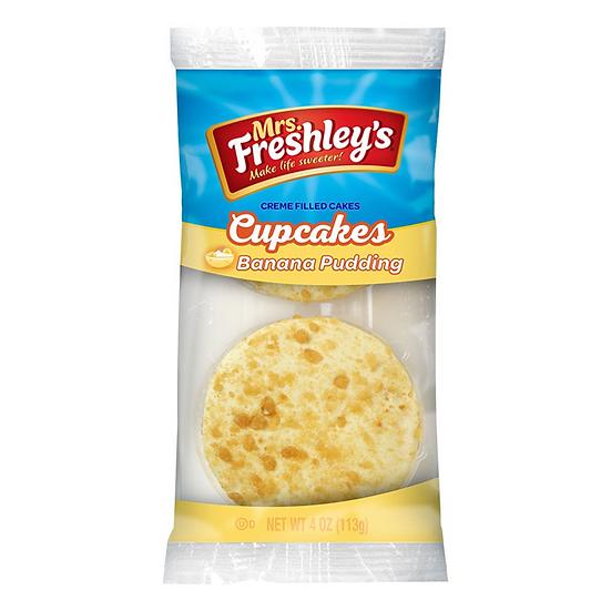 Mrs Freshleys Banana Pudding Cupcakes Twin Pack