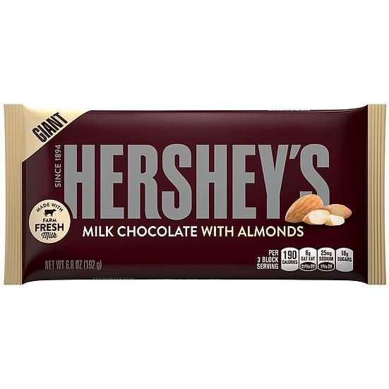 Hershey's Giant Milk Chocolate w/ Almonds Bar