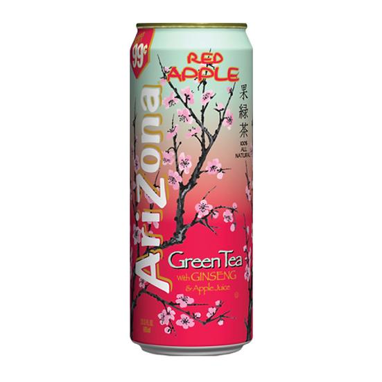 AriZona Red Apple Green Tea /w Ginseng & Apple Juice