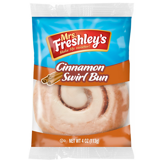 Mrs Freshley's Cinnamon Swirl Bun (box of 16)