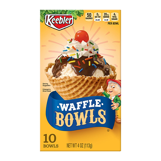Keebler Waffle Cone Bowls  **Best Before: 20 Feb 21**