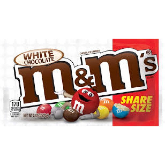 M&M White Chocolate Share Size