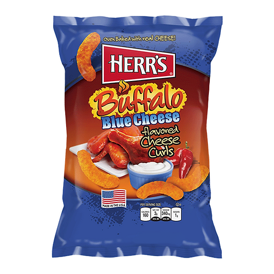 Herr's Cheese Curls - Buffalo Blue Cheese Flavour Puffs