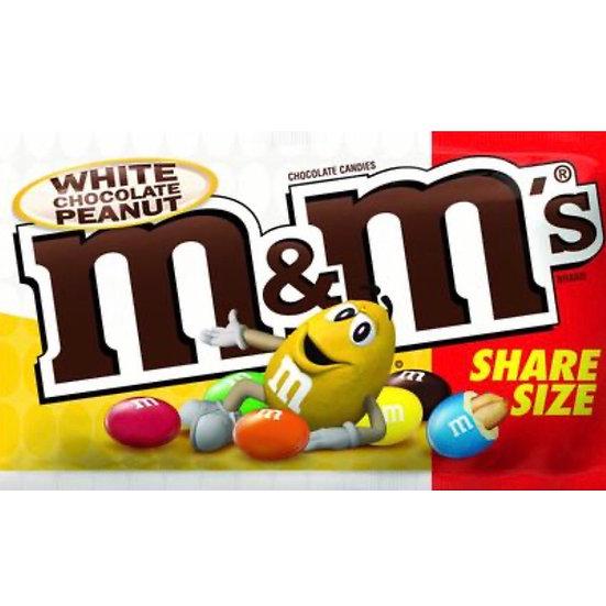 M&M WHITE CHOCOLATE PEANUT SHARE SIZE
