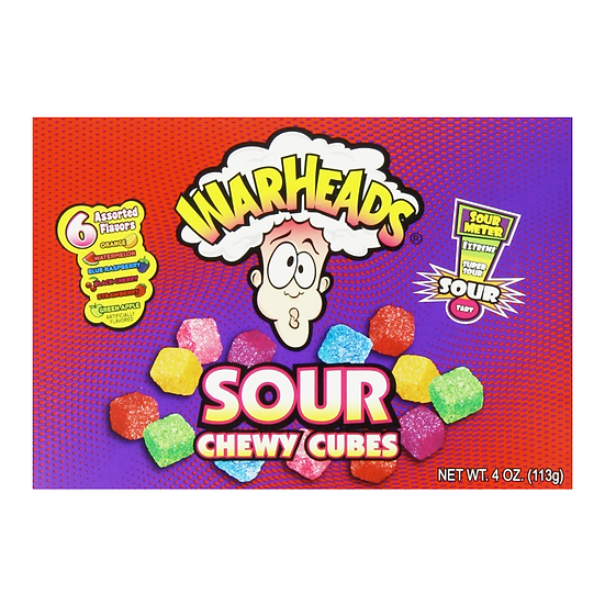 Warheads - Sour Chewy Cubes Theatre Box
