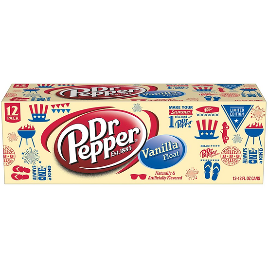 Dr Pepper Vanilla Float 12 pack