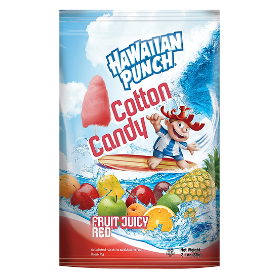 Hawaiian Punch Cotton Candy Fruit Juicy Red