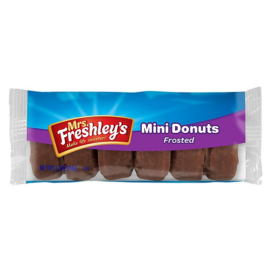 Mrs Freshley's Frosted Chocolate Mini Donuts