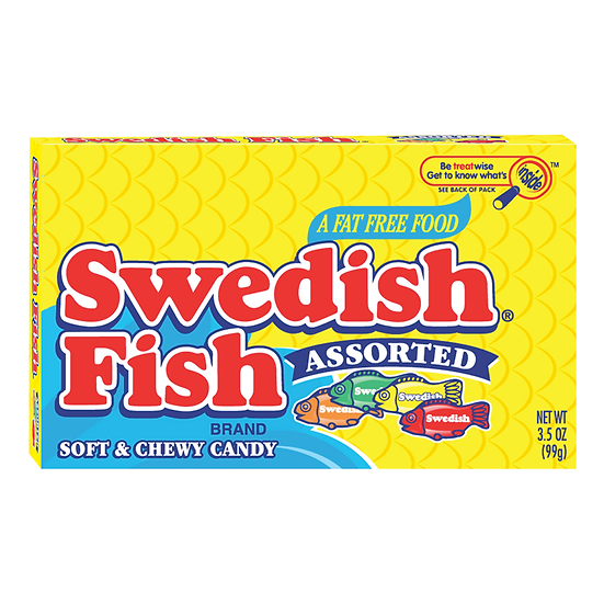 Swedish Fish Assorted Flavours Theatre Box
