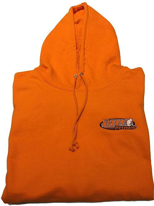 Sweat Orange Bmx pernois logo