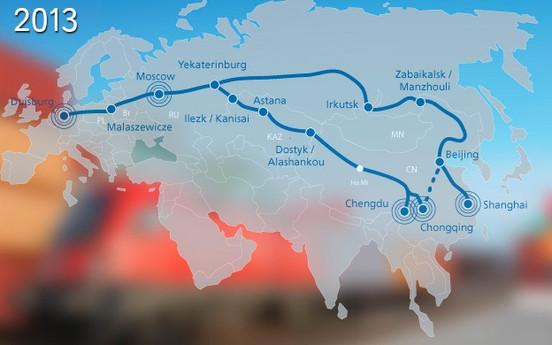 הלמן מתחילה שירות רכבת שבועי המחבר את אירופה וסין.