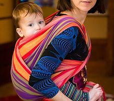 portage,porte bébé, écharpe