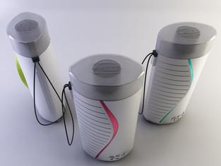 Concept per borraccia isotermica. Produzione Gio'Style.  Design Marco Maggioni, 2013  Concept for isothermal bottle. Gio'Style production.  Design Marco Maggioni, 2013