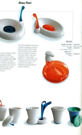 Accessori bagno Aqua di Florì per Gio'Style.  Design Marco Maggioni, 2001  Bathroom accessories Aqua di Florì for Gio'Style.  Design Marco Maggioni, 2001