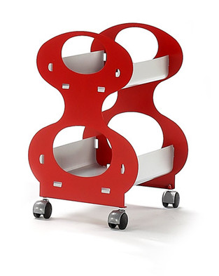 O-Shape, carrelli in metallo prodotti da Domestik.  Design Marco Maggioni, 2007  O-Shape, metal trolley  produced by Domestik.  Design Marco Maggioni,