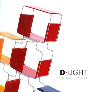 D-Light, sistema di scaffali in metallo prodotto da Domestik.  Design Marco Maggioni, 2007  D-Light, metal shelving system produced by Domestik.  Design Marco Maggioni, 2007