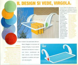 Stendibiancheria per GIMI.  Design Marco Maggioni, 2004  Clothesline for GIMI.  Design Marco Maggioni, 2004