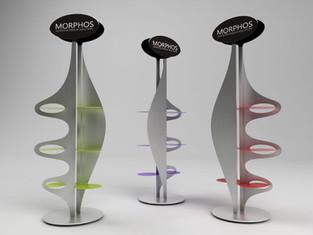 Display Morphos creato per Domestik.  Design Marco Maggioni, 2009  Morphos display created for Domestik.  Design by Marco Maggioni, 2009.