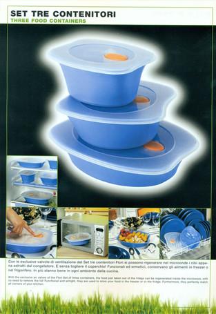 Ermetici Florì per Gio'Style.  Design Marco Maggioni, 1998-2002  Florì airtight container for Gio'Style.   Design Marco Maggioni, 1996-2002