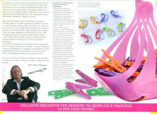 Portamollette per GIMI.  Design Marco Maggioni, 2004  Peg holder for GIMI.  Design Marco Maggioni, 2004
