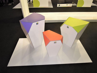 Concept display QUARTZ creato per Palram. Mostra Elementaria al Viscom  2016.  Design Marco Maggioni  Concept display QUARTZ created for Palram. Elementary Exhibition at Viscom 2016.  Design Marco Maggioni