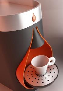 AMORA macchina per caffè espresso in cialde, produzione BiZeta.  Design Marco Maggioni, 2012  AMORA espresso coffee  machine, BiZeta production.  Design Marco Maggioni, 2012
