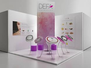 Stand espositivo DEFA Cosmetics.  Design Marco Maggioni, 2017  Exhibition stand for DEFA Cosmetics.  Design Marco Maggioni, 2017