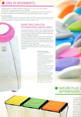 Smart Bag, portabiancheria pieghevole per GIMI.  Design Marco Maggioni, 2002  Smart Bag, foldable laundry basket for GIMI.  Design Marco Maggioni, 2002