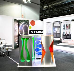 Concept display X-Elements creato per Pigomma. Mostra Elementaria al Viscom  2017.  Design Marco Maggioni  X-Elements concept display created for Pigomma. Elementary Exhibition at Viscom 2017.  Design Marco Maggioni