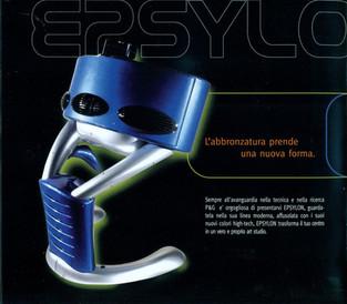 Epsylon lampada trifacciale abbronzatura UVA, prodotta da P&G Solarim.  Design Marco Maggioni, 2006  Epsylon UVA tanning solution produced by P&G Solarim.  Design Marco Maggioni, 2006