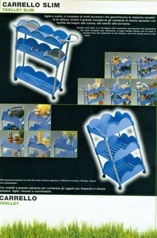 Cestelli su ruote Florì per Gio'Style.  Design Marco Maggioni, 1996-2002  Florì trolley for Gio'Style.   Design Marco Maggioni, 1996-2002