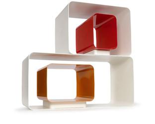 C-Frame, contenitori in metallo prodotti da Domestik.  Design Marco Maggioni, 2007  C-Frame, metal containers produced by Domestik.  Design Marco Maggioni,