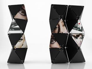 Display system KOSMOS prodotto da Litoart.  Design Marco Maggioni, 2015  Kosmos Display System, produced by Litoart.  Design Marco Maggioni, 2015