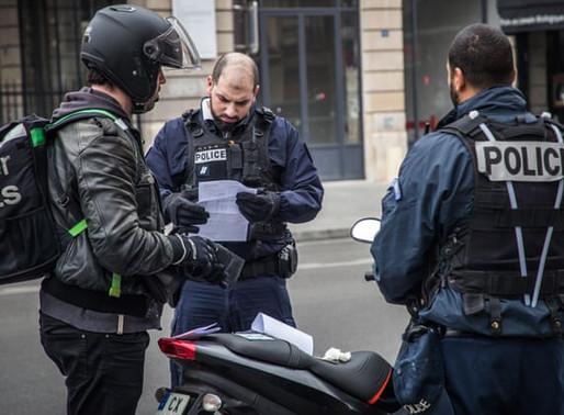 法国疫情 宵禁期间出行证明 避免被罚款