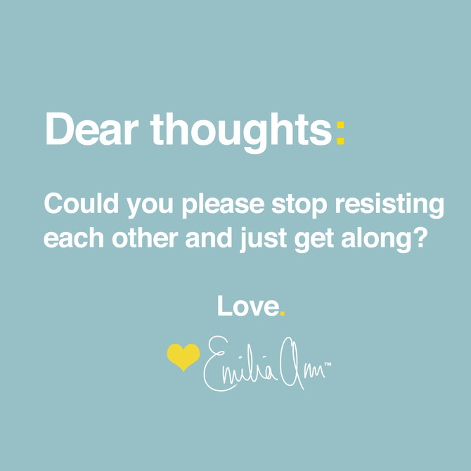 Dear thoughts...